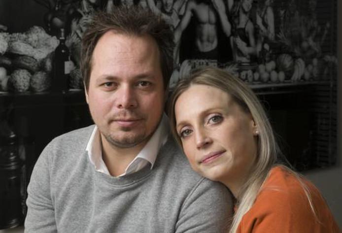 Tynni Habraken met haar partner Stephan Visser.