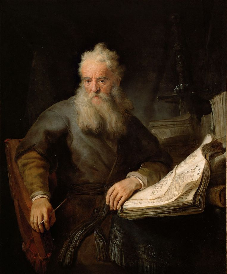 De apostel Paulus, wiens biografie is geschreven door de Britse theoloog Tom Wright Beeld Rembrandt