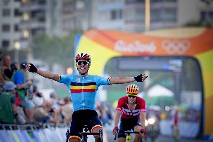 Greg van Avermaet wint goud bij de Spelen van Rio de Janeiro.