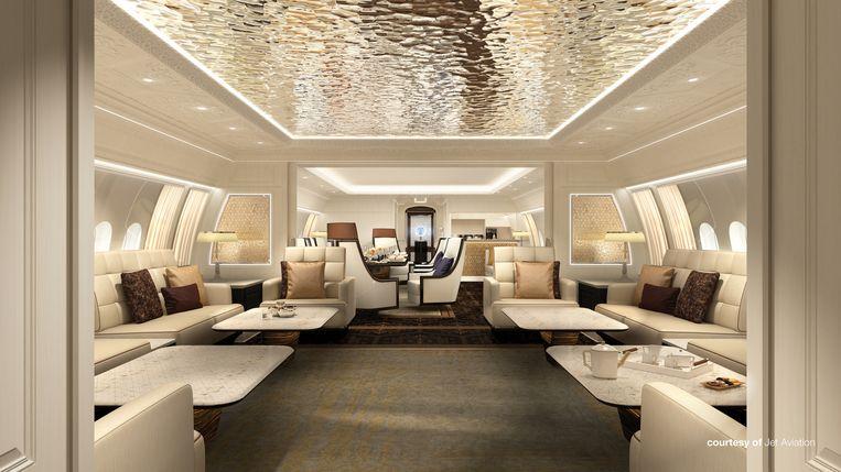 Interieurontwerpen voor de Boeing Business Jet 777X door Jet Aviation.