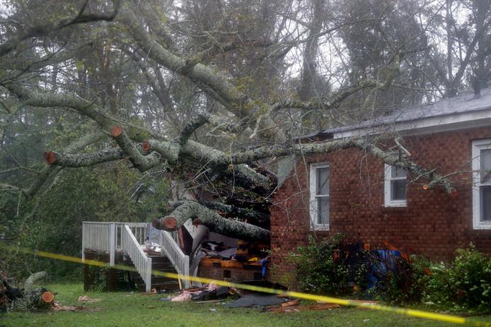 Een vrouw en haar baby in Wilmington kwamen om nadat een boom op hun huis viel.