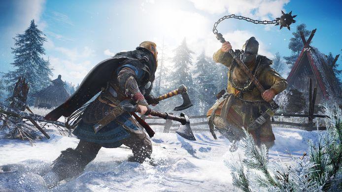 Beeld uit het spel Assassin's Creed Valhalla van Ubisoft, dat eind dit jaar uitkomt.