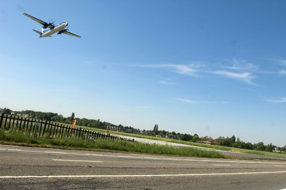 De luchthaven van Deurne.