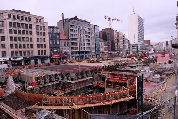 In het kader van de werken aan de Noorderlijn wordt ook het hele Operaplein vernieuwd.