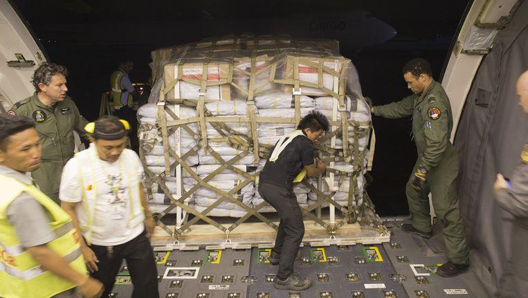 Het Nederlands defensievliegtuig dat vorige week aankwam in de Filipijnen Beeld anp