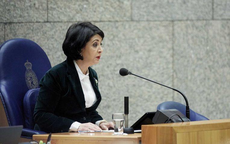 Kamervoorzitter Khadija Arib tijdens het vragenuur in de Tweede Kamer. Beeld anp