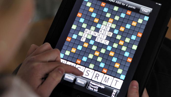 Wordfeud: een rage onder gebruikers van een smartphone of een tablet. © ANP