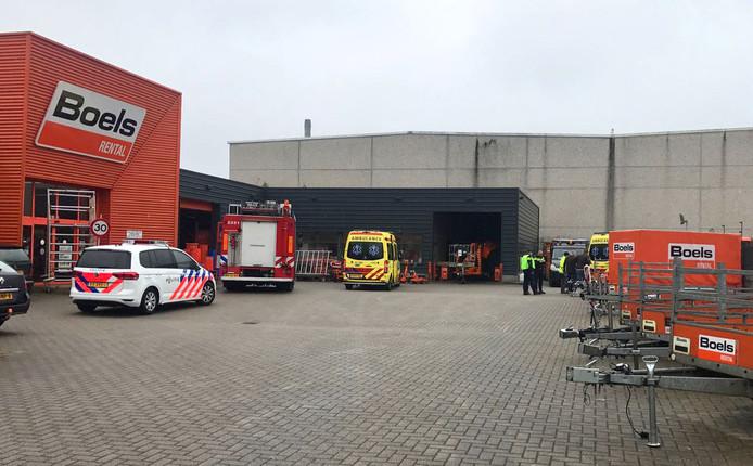 Ongeval bij Boels aan de Ruysdaelbaan in Eindhoven
