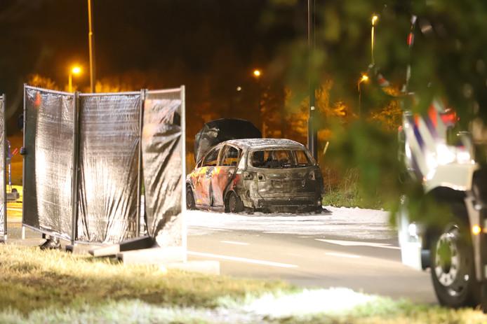 Inzittende komt om het leven bij autobrand Prinses Beatrixlaan Rijswijk