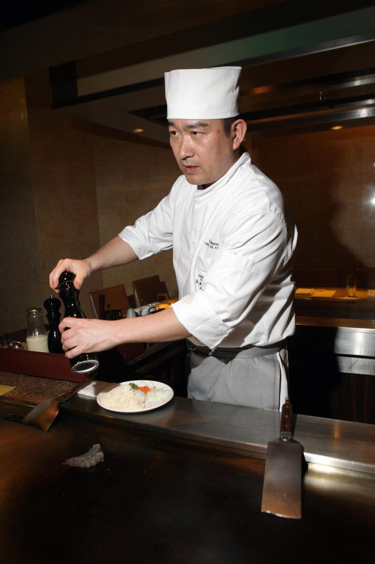 Chef Yuki Matsuda van restaurant Sazanka Beeld Jan Dirk van der Burg