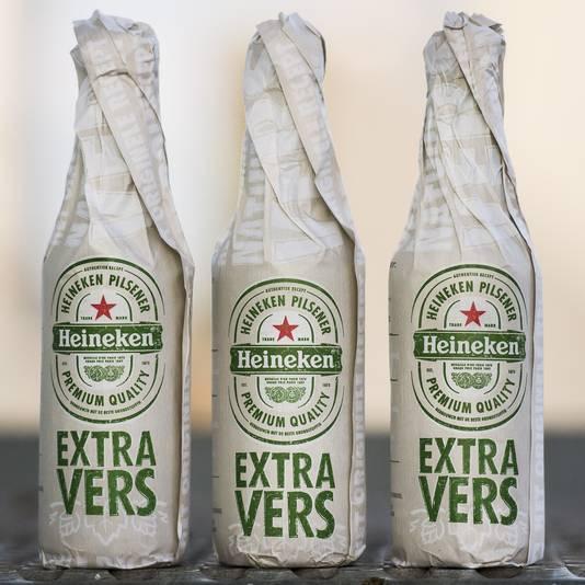 Bierbrouwer Heineken introduceert Heineken Extra Vers bij een aantal supermarkten op de Nederlandse biermarkt