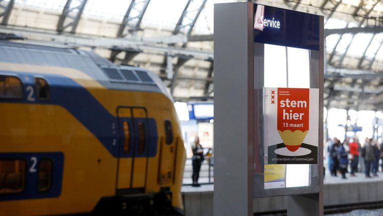 Stemmen kan onder andere ook op Centraal Station en Bijlmer Arena. Beeld ANP