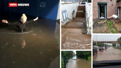 Onweders zorgen opnieuw voor overlast: wegen, huizen en station ondergelopen, zelfs modderstromen