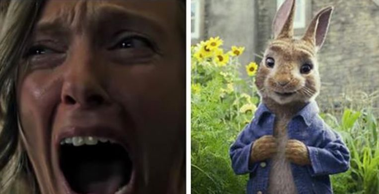 De horror-trailer die werd vertoond voor de 'Peter Rabbit'-film werd niet goed ontvangen.