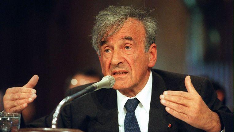 Elie Wiesel in 2000. Beeld afp