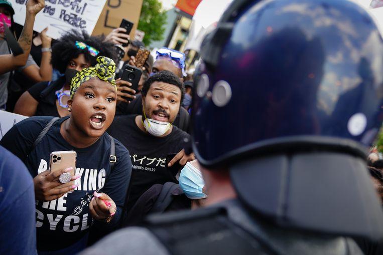 Demonstranten zondag in Atlanta Beeld Getty Images