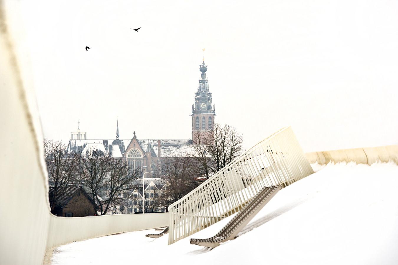 Sneeuwlandschap, Nijmegen.