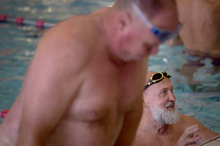 Zwemclub Gay Swim Amsterdam traint voor de Gay Games in Parijs.  Beeld Maartje Geels