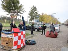 'Storm in een glas water' in Reeshof, luchtballon landt tijdens wedstrijd vlakbij treinspoor