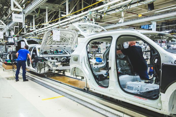 De productie van de XC40 in de Gentse fabriek.