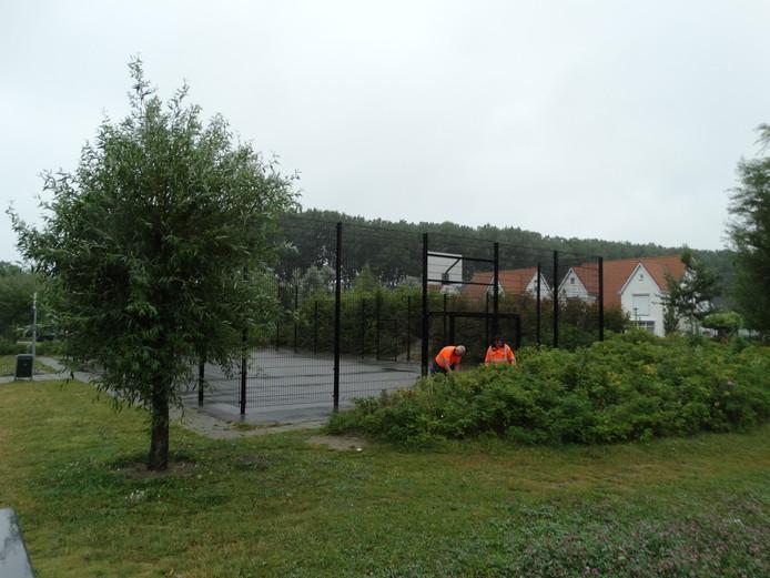 De speelkooi aan de Oesterdreef in Terneuzen.