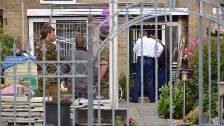 De politie doet onderzoek in Oost-Souburg. Beeld anp
