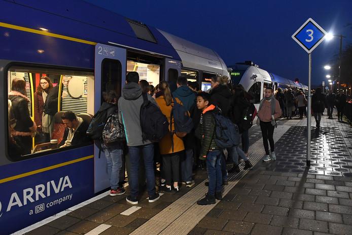 Eind november vorig jaar: drukte op station Cuijk.