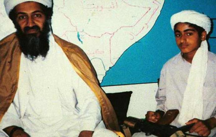 Oussama ben Laden et son fils Hamza.
