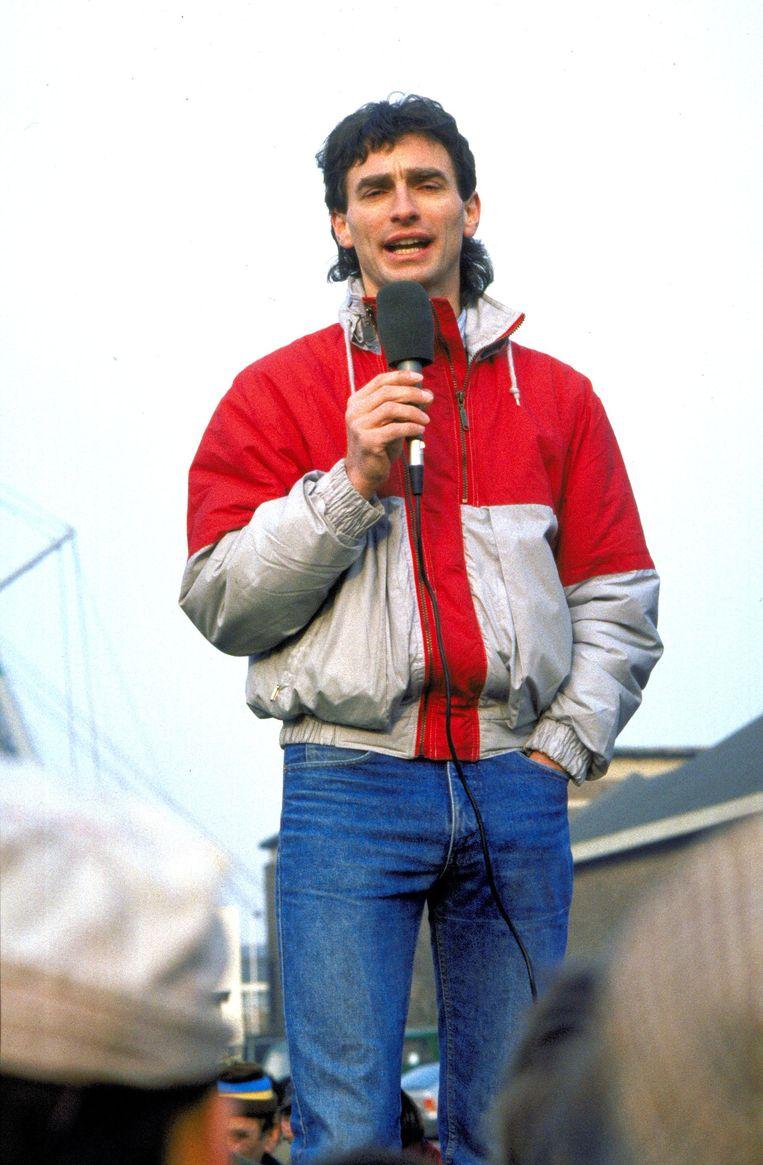 GroenLinks' eerste golden boy als vakbondsactivist in 1987. Beeld Hollandse Hoogte /  ANP