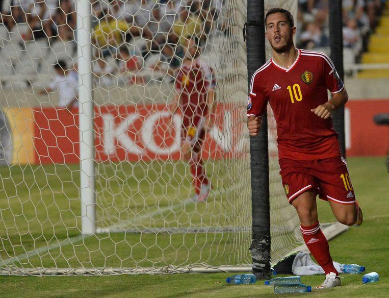 Eden Hazard scoorde de enige goal van de wedstrijd