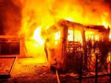 Onbewoond chalet op recreatiepark De Rooye Asch in Handel volledig afgebrand