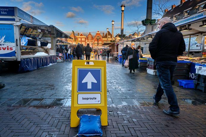 Vooral op de Dordtse markt was het zaterdag opvallend rustig.