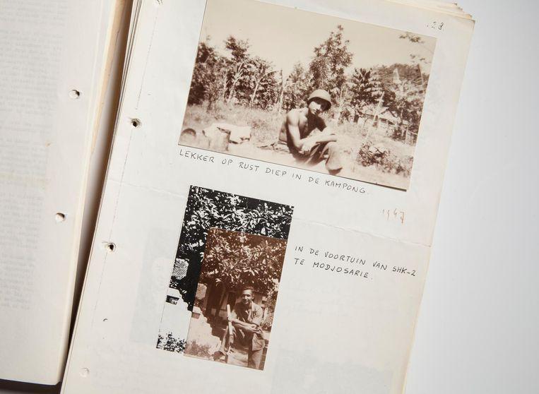Een pagina uit de memoires van de vader van Alfred Birney, Adolf. Beeld Eddo Hartmann