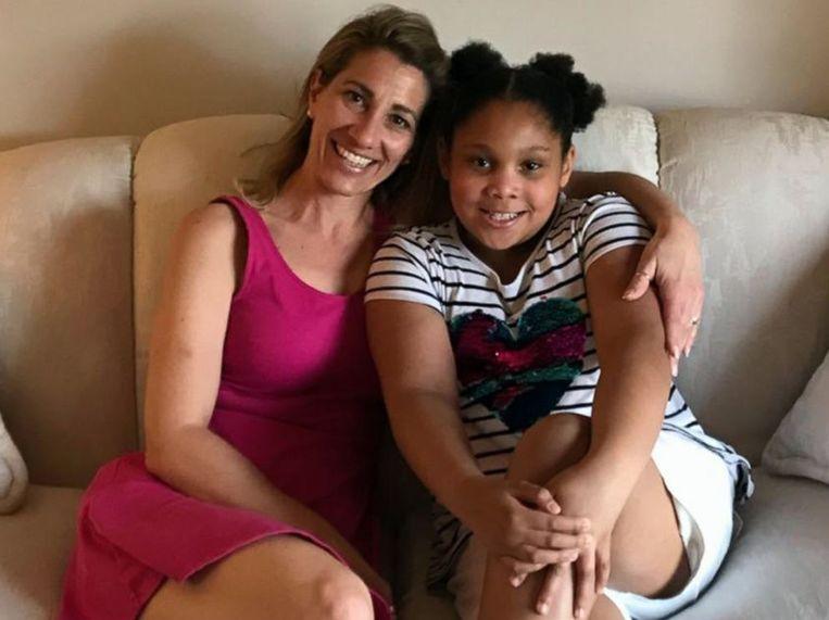 Tanya Thomas met de zieke Eva.