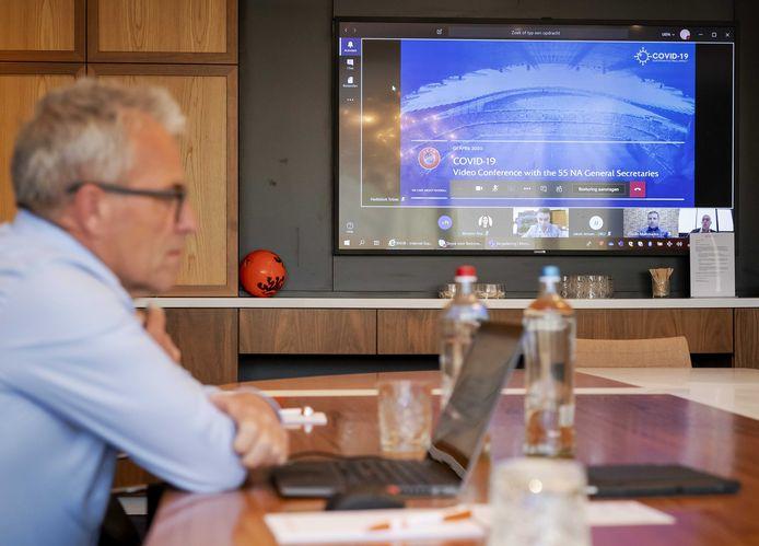 KNVB-directeur Eric Gudde op archiefbeeld.