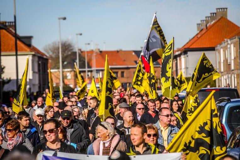 Zo'n 400 mensen daagden op voor de mars.