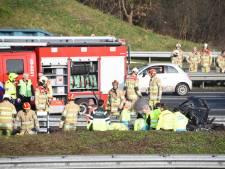 Ernstig ongeluk op de A12: ten minste één iemand gewond