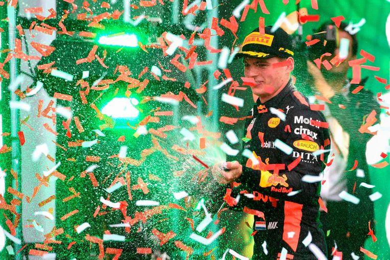 28 oktober: Winst in de GP van Mexico. Beeld AFP