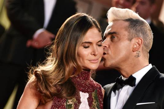 Robbie Williams et son épouse Ayda