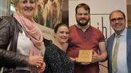 Karl Heirbaut van Slagerij Heirbaut ontvangt Handmade in Belgium-authenticiteitslabel
