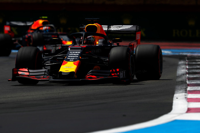 Verstappen in zijn Red Bull-bolide.