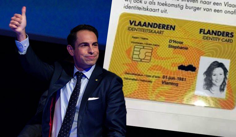 De zogenaamde 'Vlaamse identiteitskaarten' van Vlaams Belang.