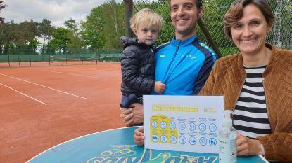 Onder strikte voorwaarden mag er opnieuw tennis gespeeld worden bij TC De Bergen