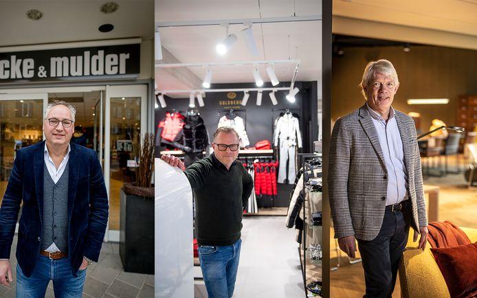 Twentse ondernemers in coronatijd, vlnr Marc Roetgering, Milo Baum en Gertjan Smellink