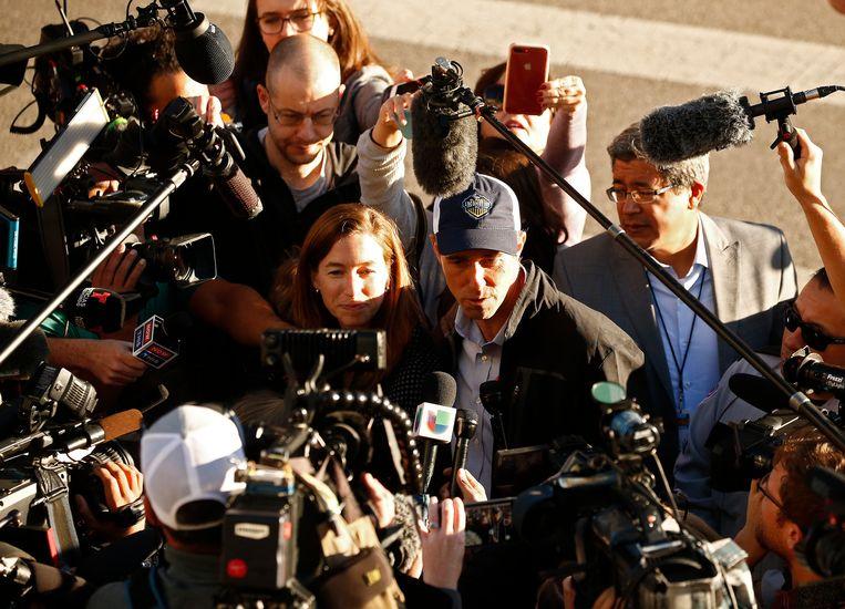 Beto O'Rourke ging vanmorgen vroeg al zijn stem uitbrengen in zijn thuisstad El Paso.