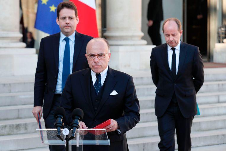 De Franse premier Bernard Cazeneuve vandaag op het Elysée