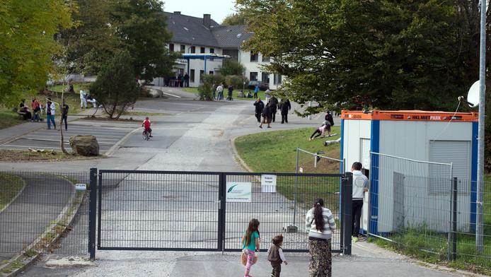 Het park in de Duitse stad Burbach, waar de eerste mishandelingen plaats vonden