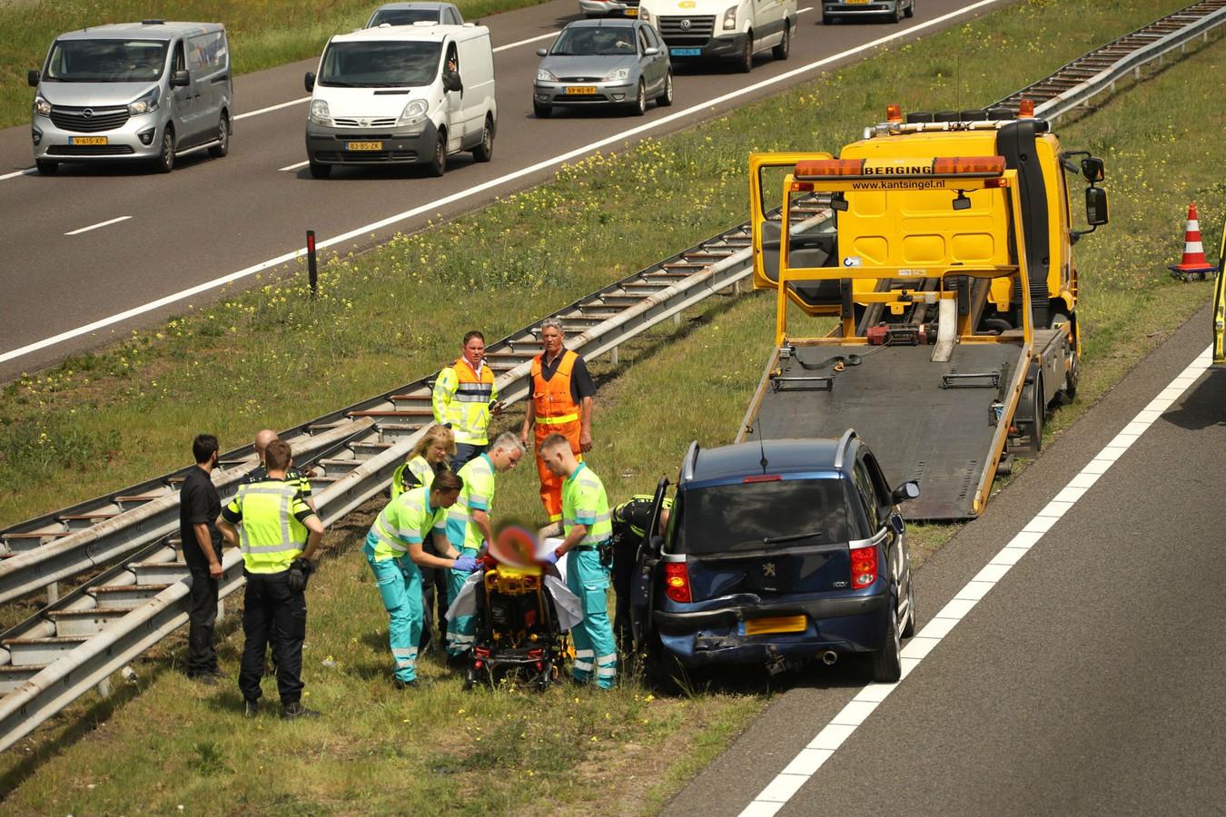 Ongeluk op A50 bij Herpen