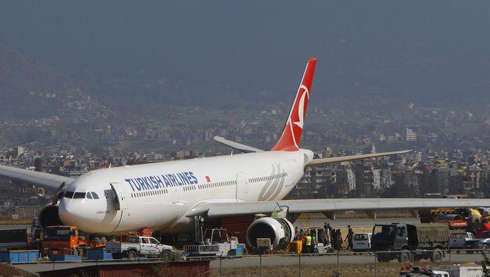 Het vliegtuig dat de buiklanding maakte