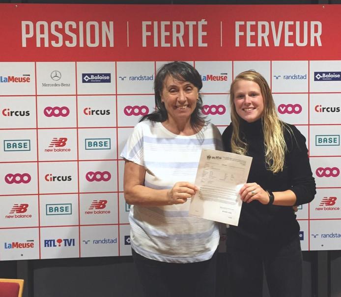 Merel Bormans speelt dit seizoen voor Standard Luik